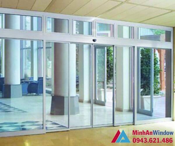 Mẫu cửa tự động Teraoka nhật bản 4 cánh - cửa tự động văn phòng