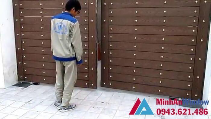 cổng tự động âm sàn - cửa tự động âm sàn giá đẹp hà nội 4