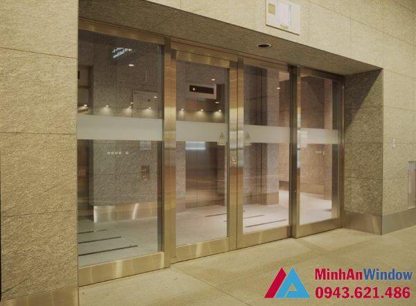Mẫu cửa tự động Teraoka nhật bản nhiều cánh - cửa tự động trung cư