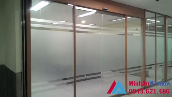 Mẫu cửa tự động Teraoka nhật bản 2 cánh - cửa tự động mở văn phòng