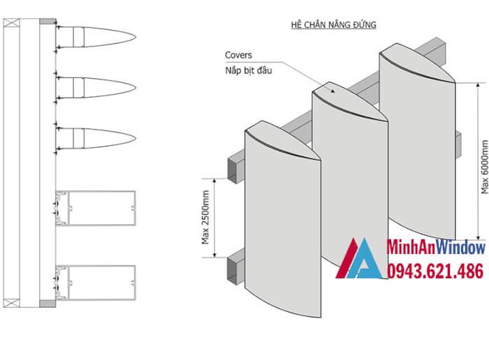 Cấu tạo này giúp lam chắn nắng hình viên đạn phát huy được công dụng hiệu quả nhất