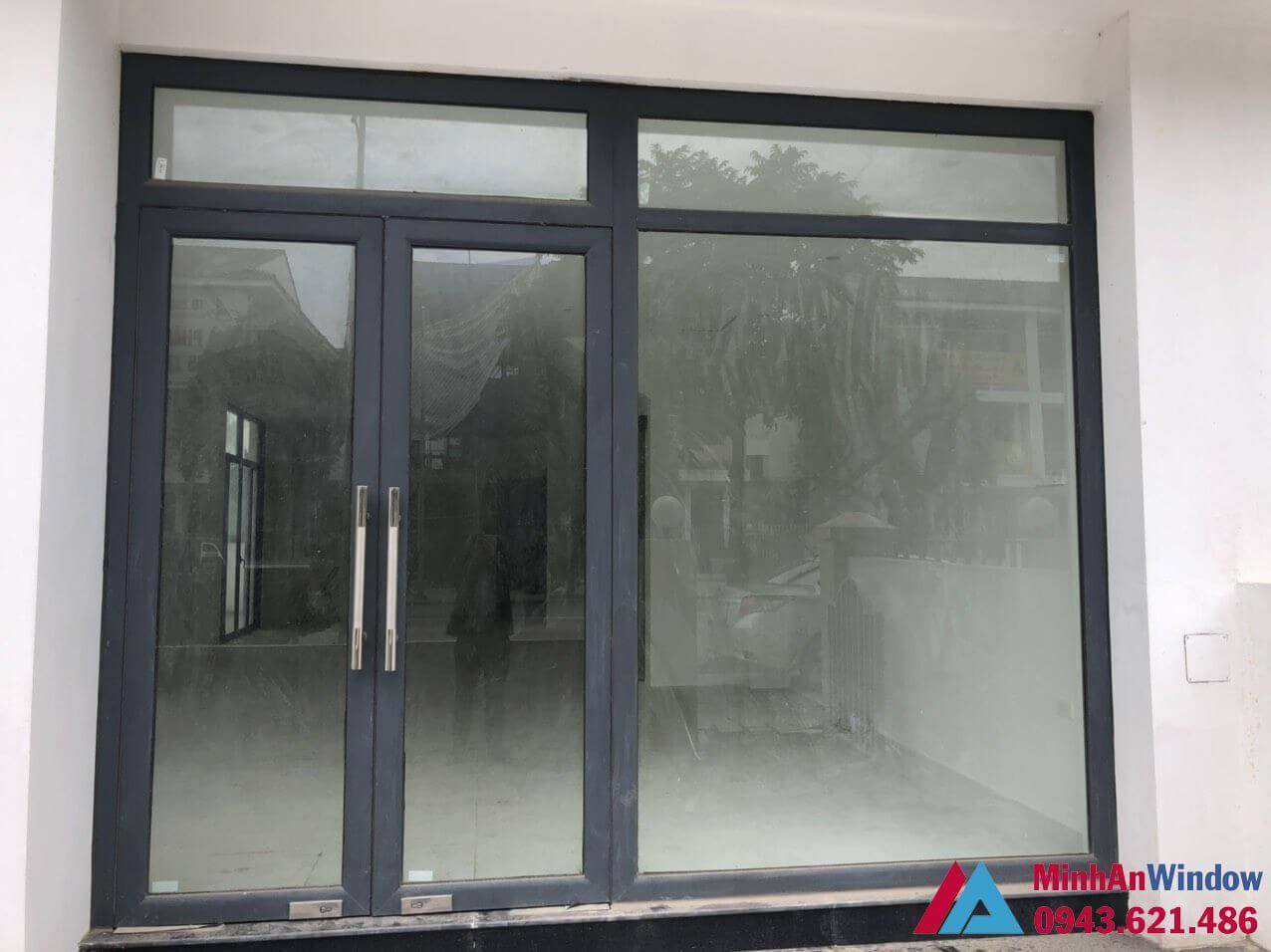 Mẫu cửa đi nhôm kính Minh An Window lắp đặt tại Hà Giang