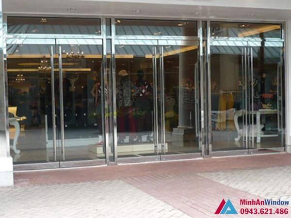 Cửa kính cửa lực - khung inox cnc