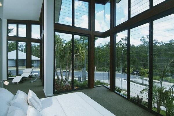Vách kính cường lực khung nhôm - nhà ở, resort nghỉ dưỡng - Minh An Window đã thi công