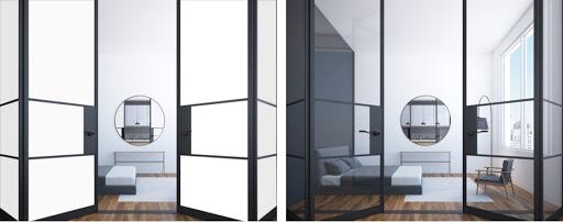 Phòng ngủ sử dụng kính điện thông minh là một ý tưởng tuyệt vời
