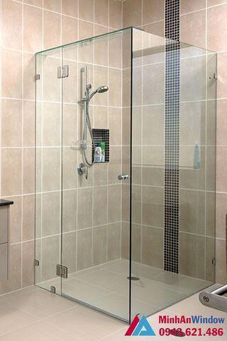 Phòng tắm kính cường lực 90 độ cao cấp chất lượng