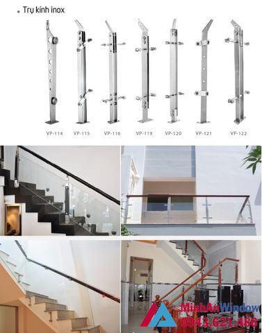 Cấu tạo cầu thang kính inox