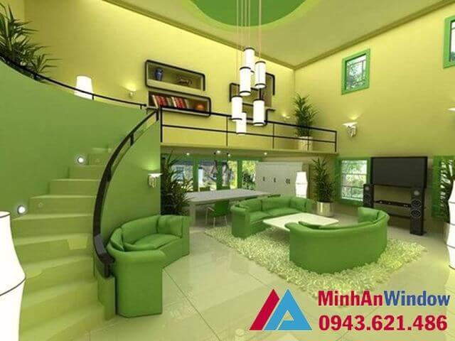 Kính ốp tường cao cấp cho các phòng khách đẹp