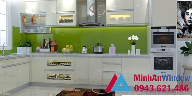 Kính ốp tường cao cấp cho các nhà bếp cao cấp chất lượng