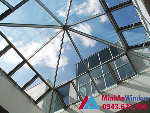 cấu tạo mái kính khung inox