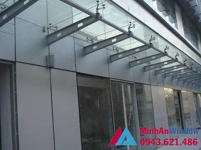 báo giá thi công cấu tạo mái kính khung inox