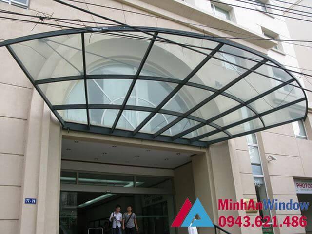 Mái kính khung sắt cho các toà nhà