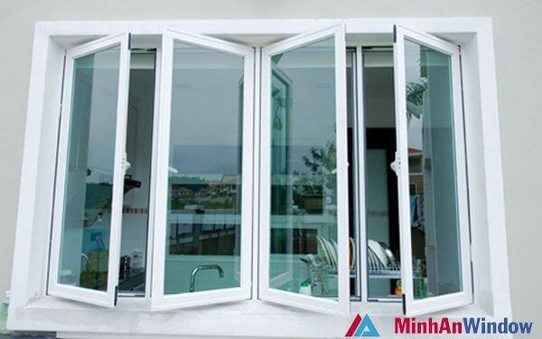 Mẫu cửa sổ nhôm kính hất quay thông minh
