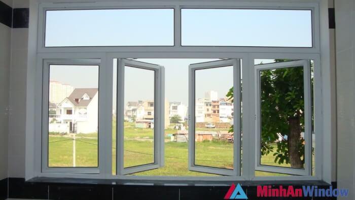 Mẫu cửa sổ nhôm kính 4 cánh 5