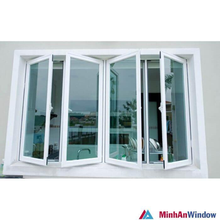 Mẫu cửa sổ nhôm kính 4 cánh 6