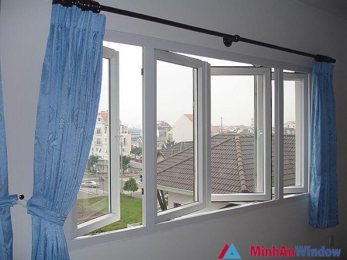 Mẫu cửa sổ nhôm kính 4 cánh 4