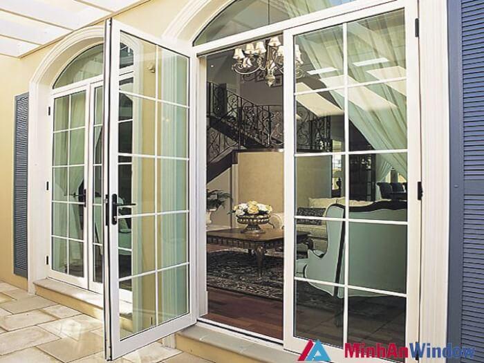Mẫu cửa nhôm kính đẹp cao cấp(Trượt,Lùa 1 cánh,2,3,4 cánh) 2