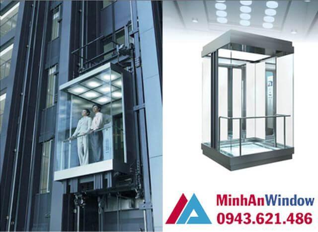 Cách thiết kế nội - ngoại thất thang máy kính