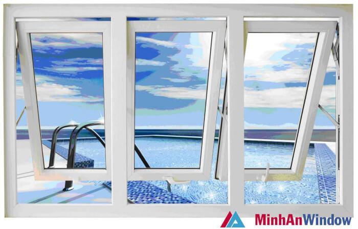 mẫu cửa sổ kính cường lực