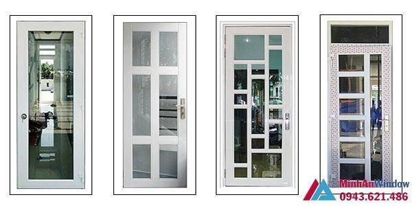 4 mẫu cửa nhôm kính 1 cánh thịnh hành tại Hà Nội