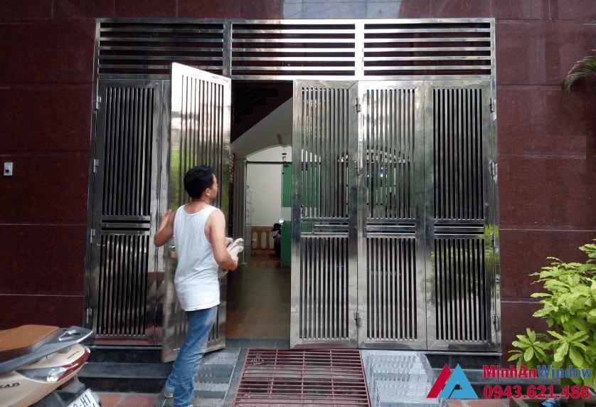 Mẫu cửa Inox thi công tại Bắc Ninh cao cấp chất lượng
