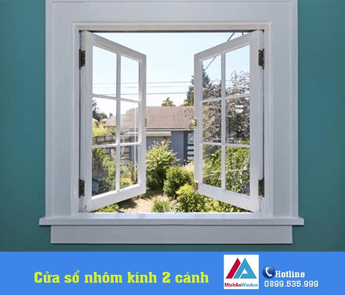 Mẫu cửa sổ nhôm kính mở quay Minh An Window lắp đặt tại Yên Bái