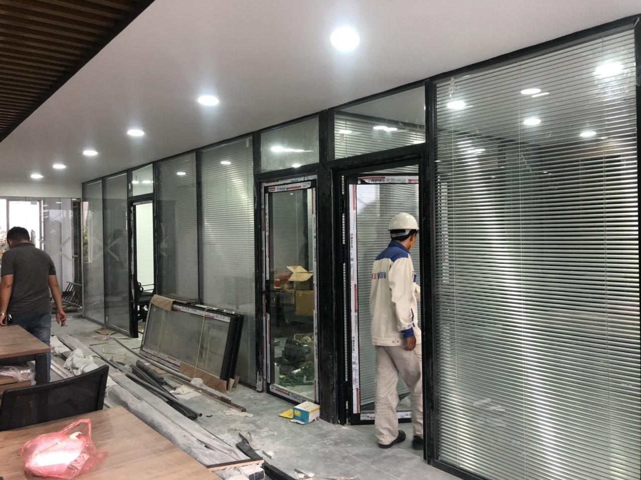 Công trình cửa nhôm kính do Minh An Window lắp đặt