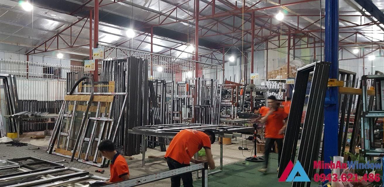 Xưởng gia công cửa nhôm xingfa tại Thái Bình