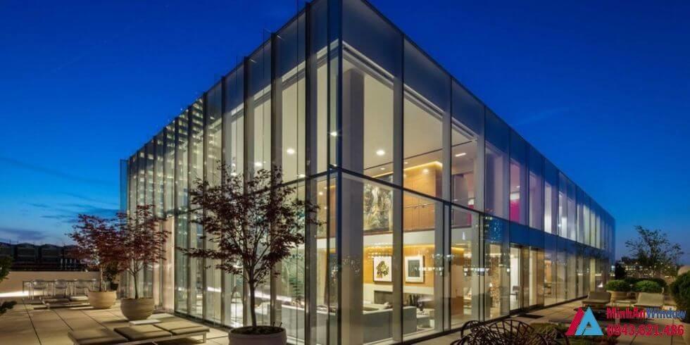 Nhà kính khung thép cao cấp cho các phòng trưng bày sản phẩm