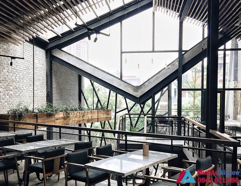 Cửa kính khung thép cho các quán cafe cao cấp chất lượng
