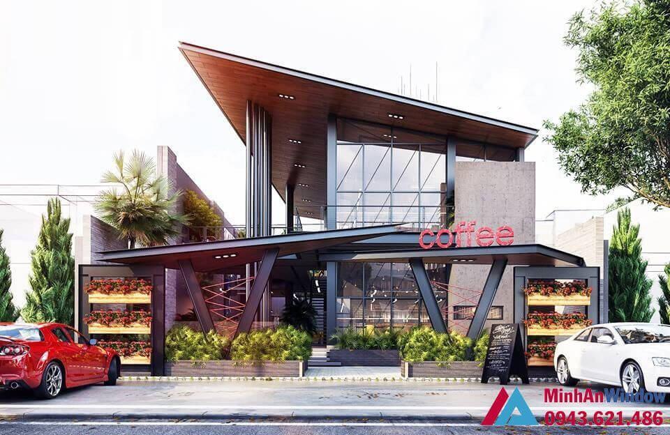 Nhà kính khung thép cao cấp chất lượng cho các quán cafe