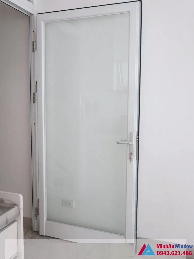 Mẫu cửa nhôm PMI 1 cánh cho phòng ngủ