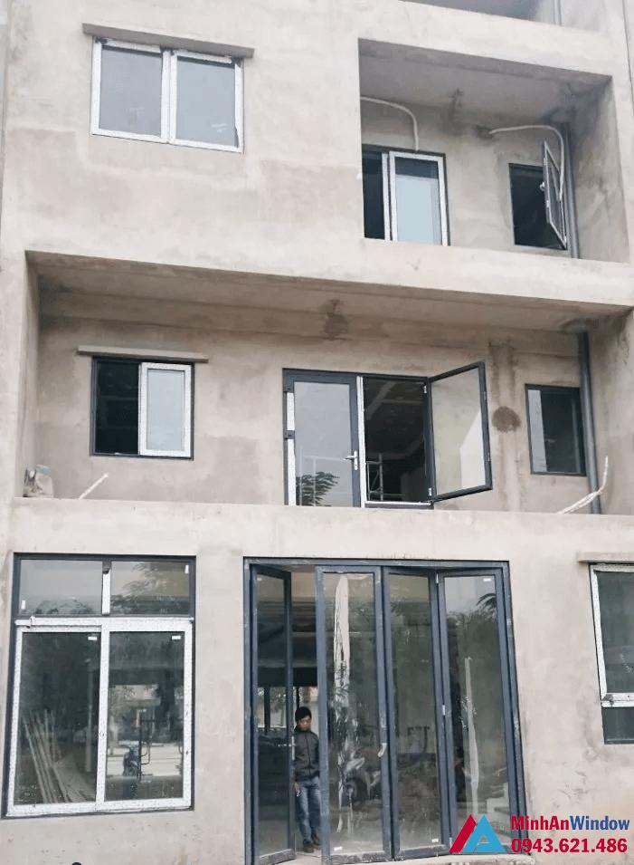 Công trình cửa nhôm kính tại Hưng Yên do Minh An Window lắp đặt