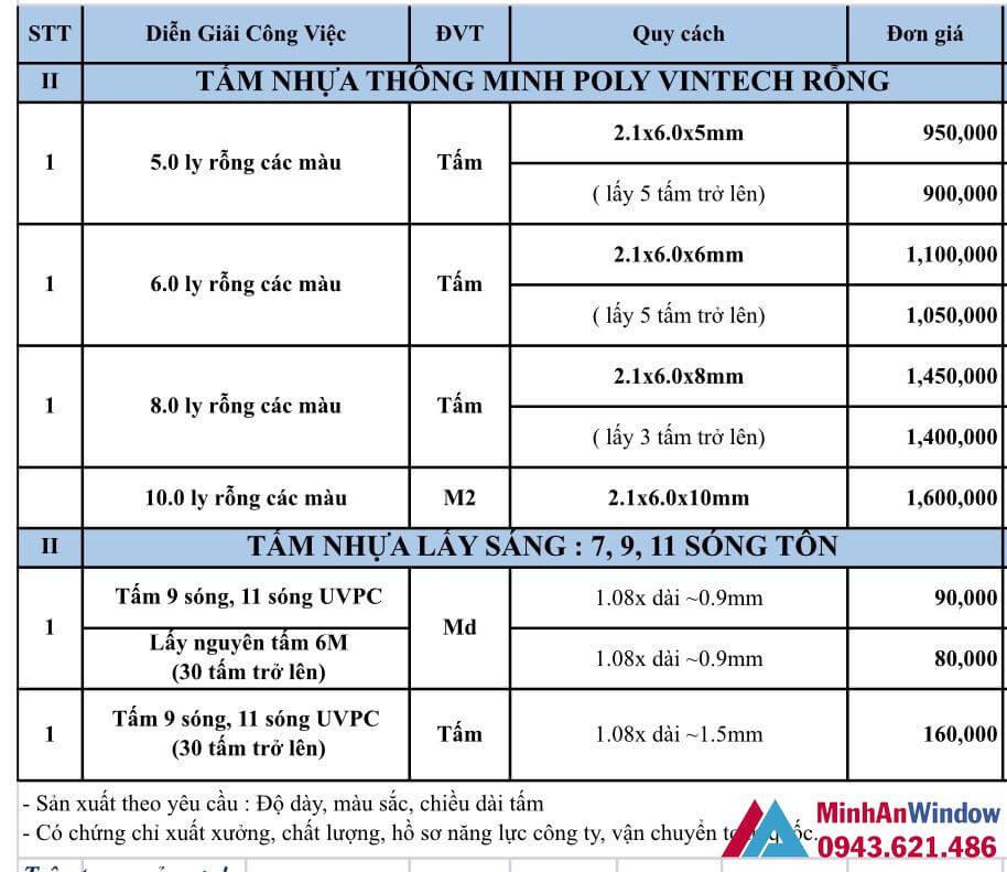 Bao Gia Tam Nhua Thong Minh Rong Vintech