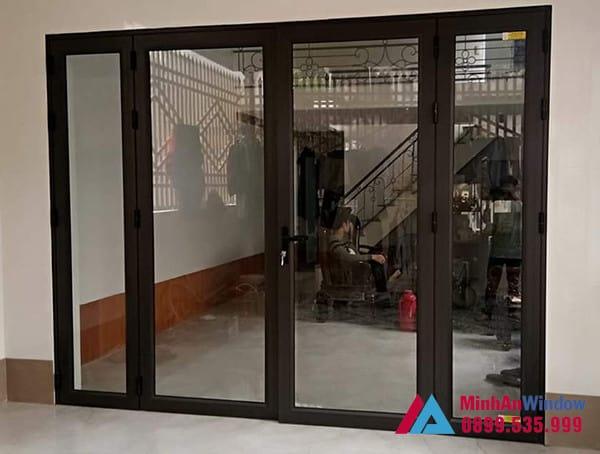 Mẫu cửa nhôm kính Việt Pháp Minh An Window lắp đặt tại Hưng Yên