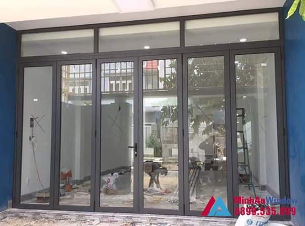 Mẫu cửa đi nhiều cánh Minh An Window lắp đặt tại Hà Giang