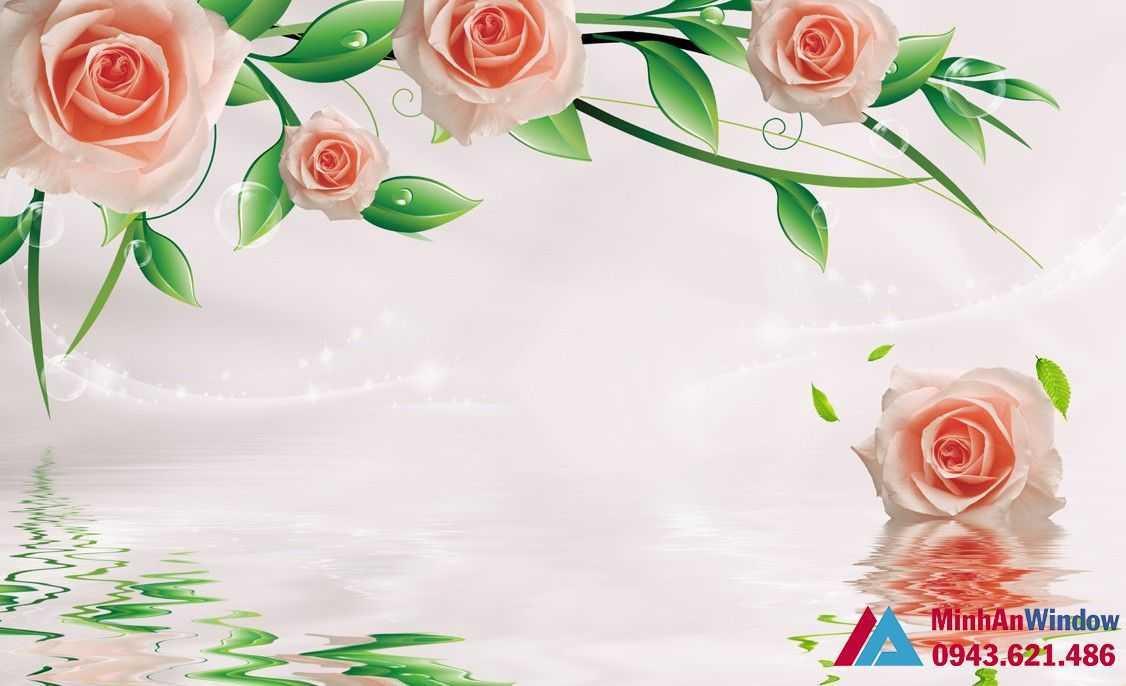 tranh kính hoa