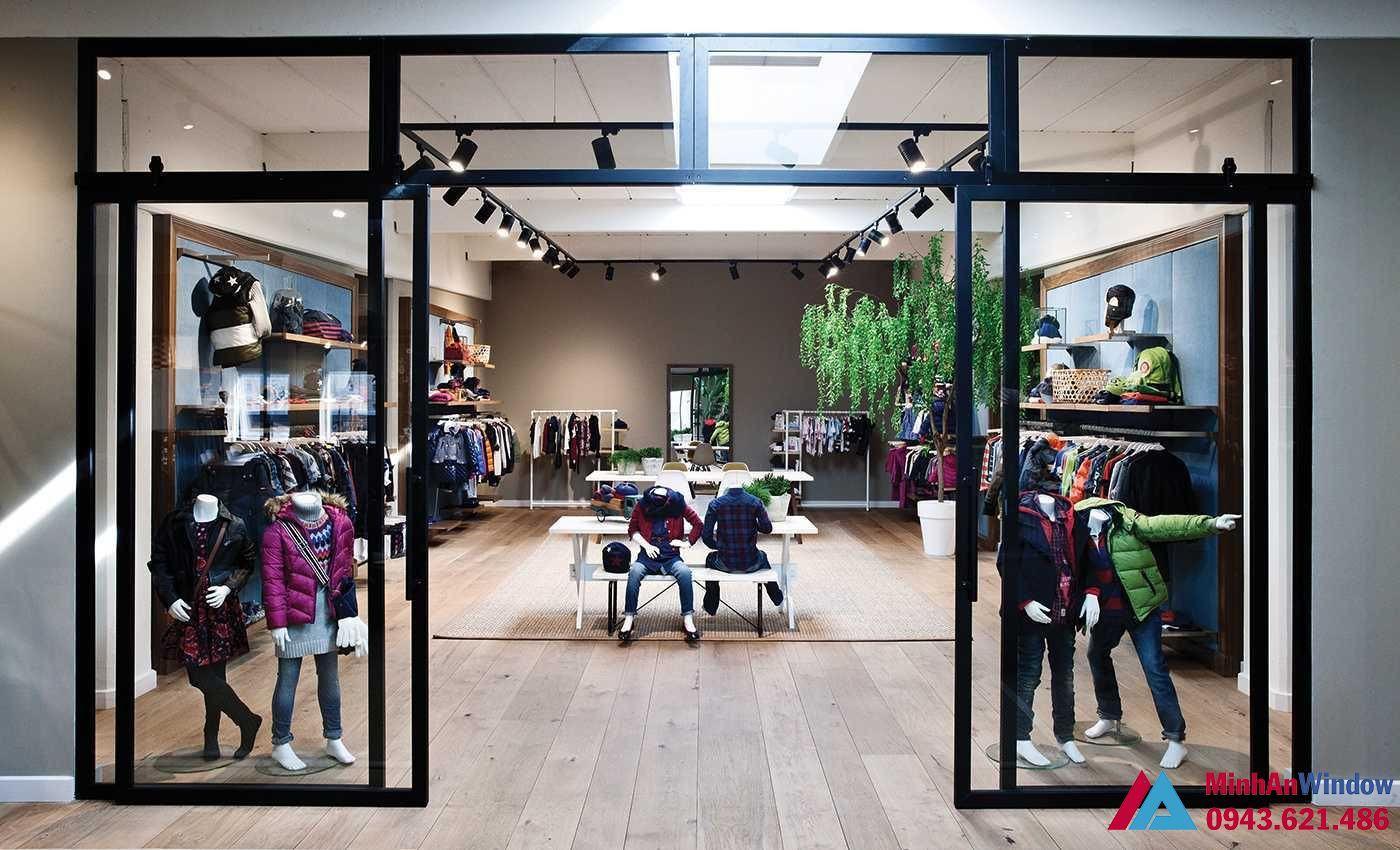Cua Kinh Cuong Luc Khung Sat Dep Shop Showroom Spa 5