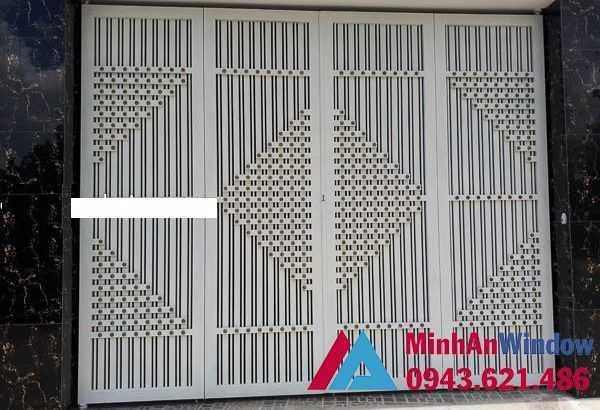 Cửa cổng sắt 4 cánh cao cấp chất lượng cho mọi công trình