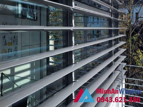 Lam nhôm chắn nắng được Minh An Window thiết kế thi công