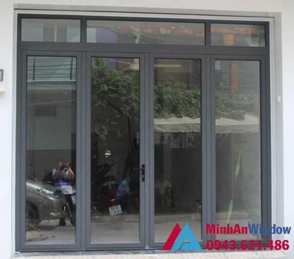Mẫu cửa đi 4 cánh mở quay Minh An Window lắp đặt tại Hà Giang