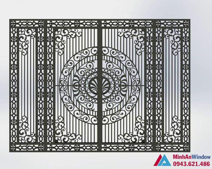 mẫu cửa cổng sắt mỹ thuật sơn tĩnh điện
