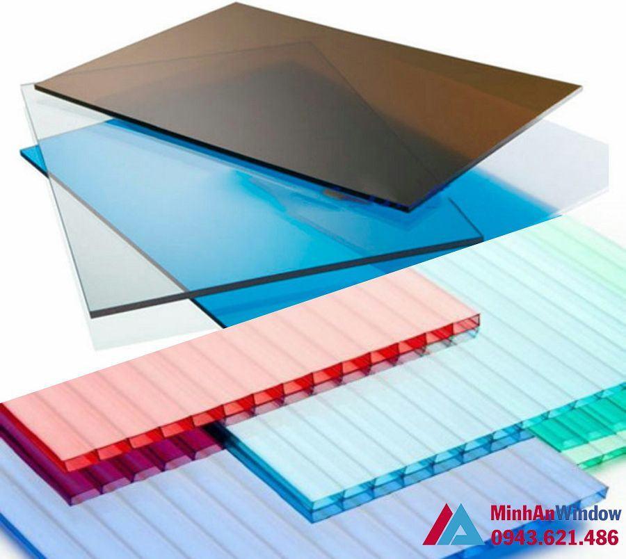 Tấm nhựa Polycarbonate đặc rỗng giá rẻ