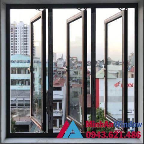 Mẫu cửa sổ nhôm kính 3 cánh với cấu tạo đơn giản