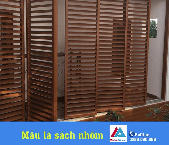 Mẫu nhôm lá sách vân gỗ được sử dụng nhiều nhất - Minh An Window đã thi công