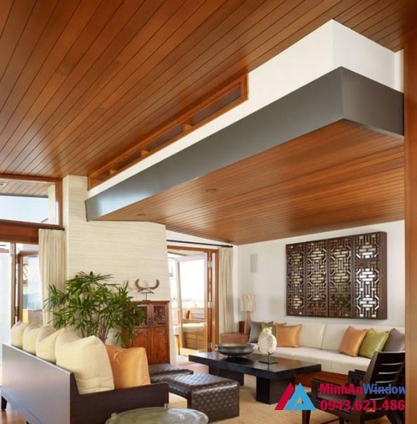 Tấm Alu vân gỗ cho trần nhà các khách sạn cao cấp