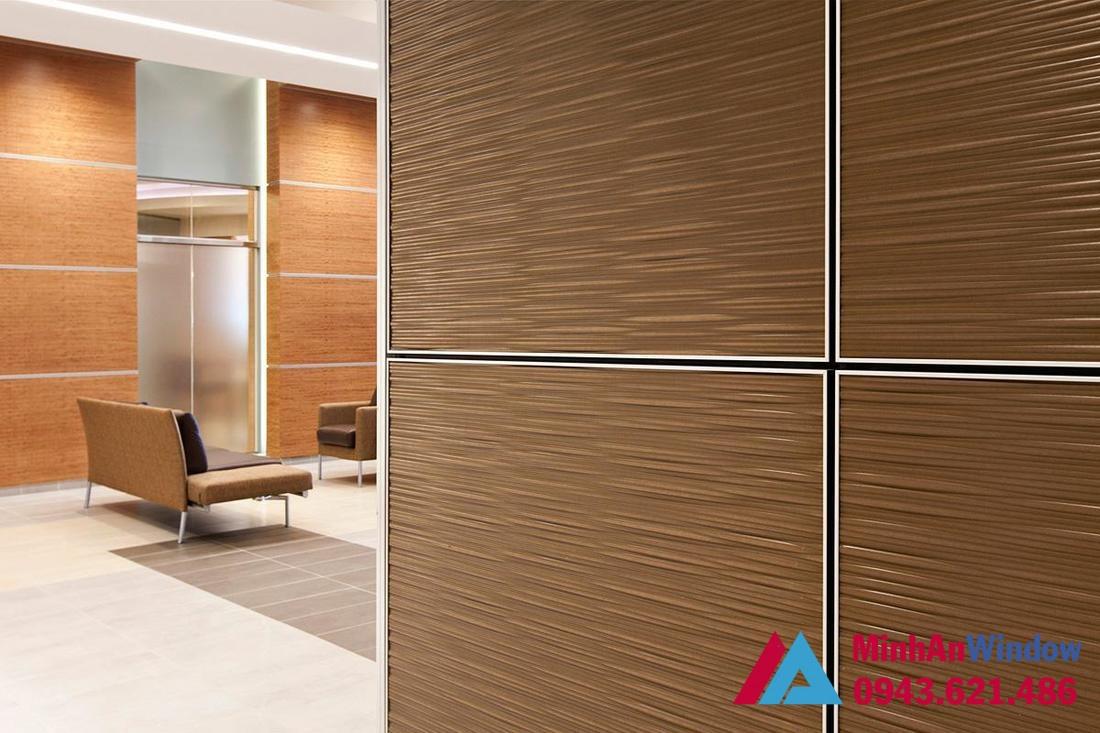 Vách ngăn Alu vân gỗ cao cấp chất lượng cho các văn phòng, phòng khách