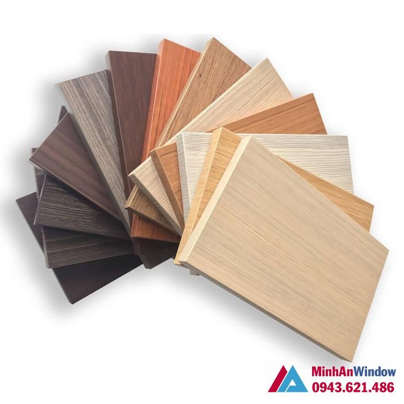 Mẫu tấm Alu vân gỗ đủ màu và thiết kế