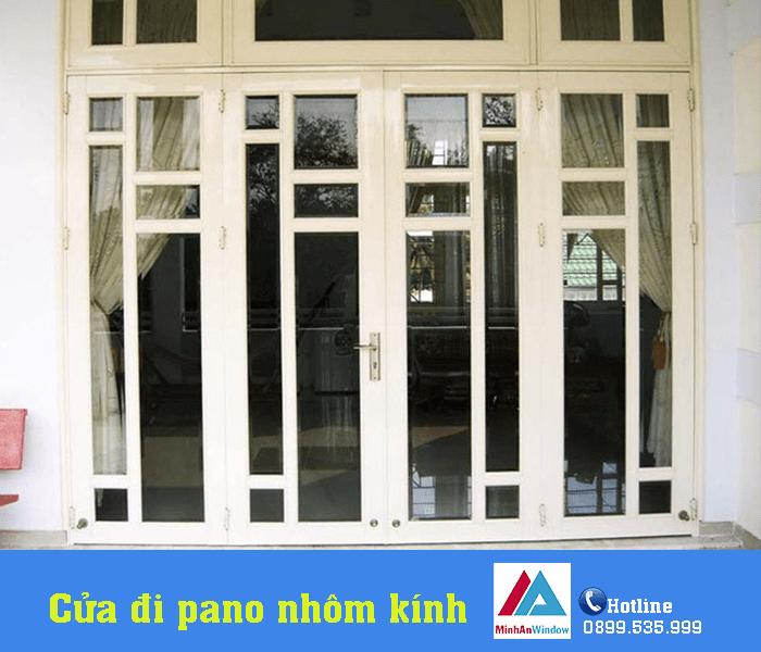 Minh An lắp đặt cửa đi pano nhôm kính cho nhà biệt thự - Minh An Window đã thi công