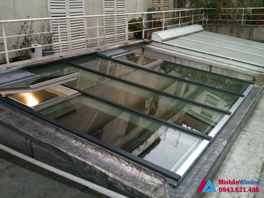 Mẫu mái kính giếng trời cực đẹp tại Cao Bằng